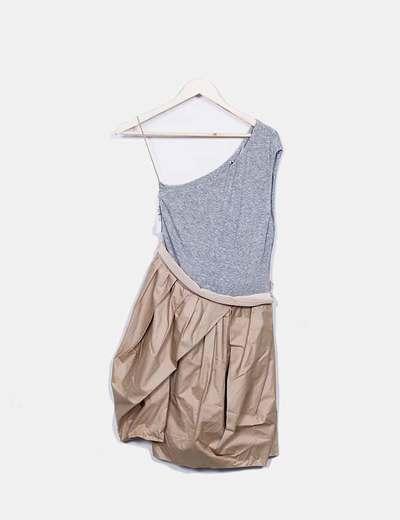 Robe asymétrique combinée Robe Carven