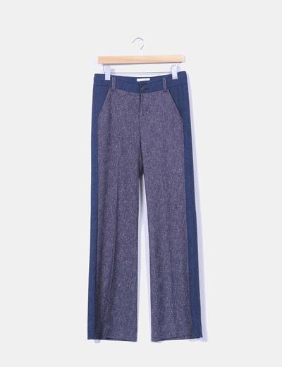 Pantalón azul jaspeado Elevenses