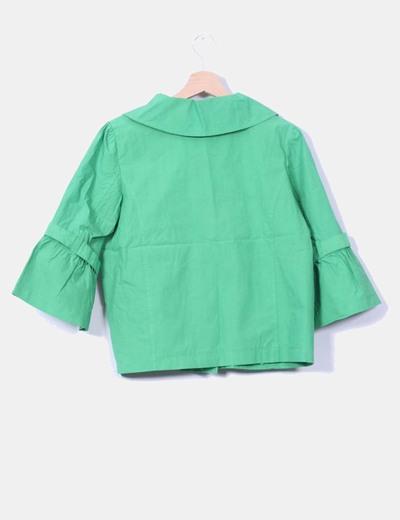 Chaqueta verde menta con doble abotonadura