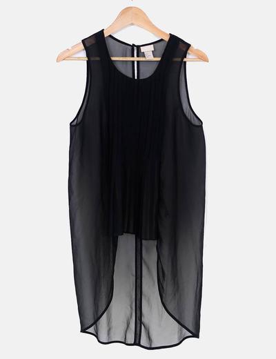 Blusa asimétrica plisada H&M trend