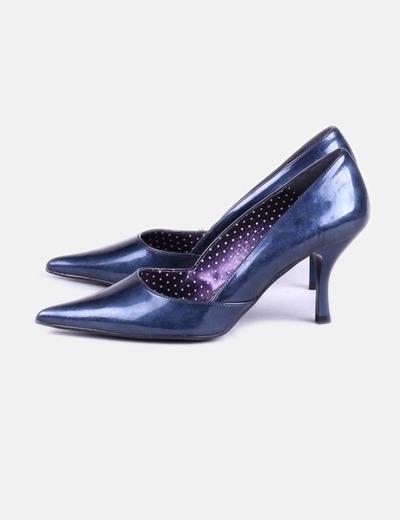 Chaussure à talon bleue bout pointu Mustang