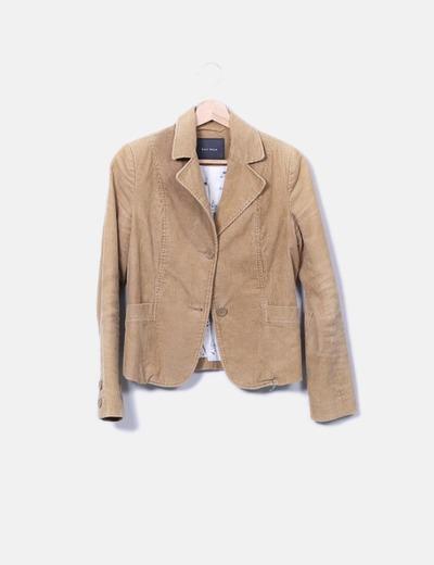 Blazer marron en velours côtelé Easy Wear