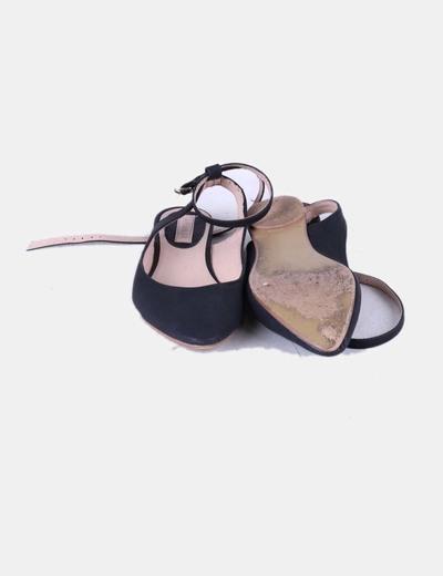 Sandalias negras destalonadas