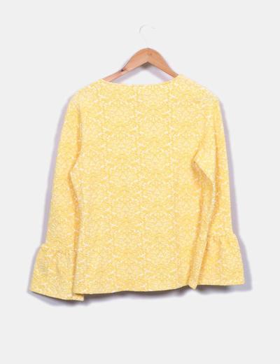 Blusa texturizada amarilla