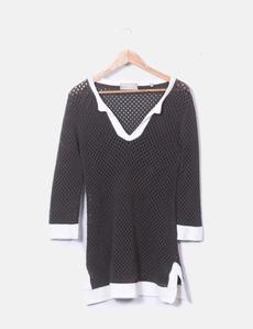 d8397e57d783a Vestido tricot calado Pedro del Hierro