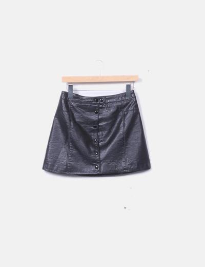 Falda negra midi