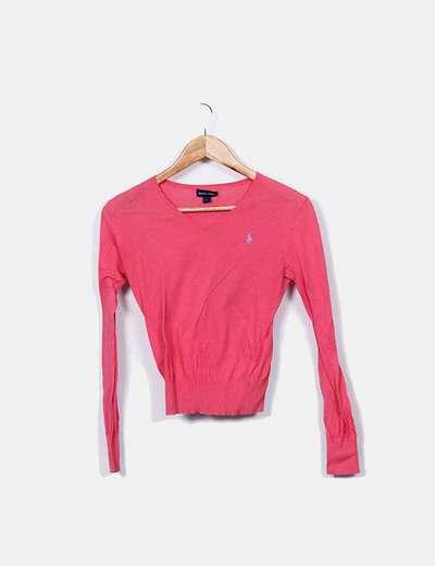 Jersey rosa escote pico Ralph Lauren