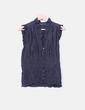Blusa negra drapeada Zara