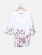 Vestido blanco estampado Mia Donna