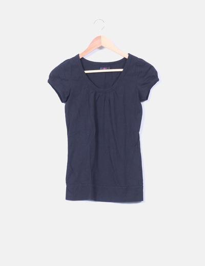 Camiseta negra manga corta Ann Christine