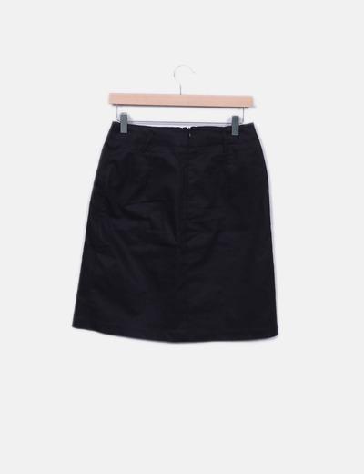 compras diferentemente comprar baratas Minifalda negra con tablas