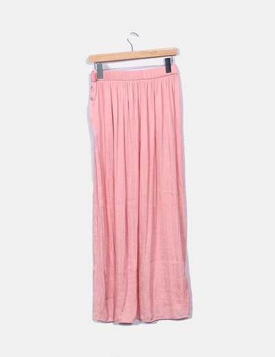 be5677f00 Falda larga rosa satinada