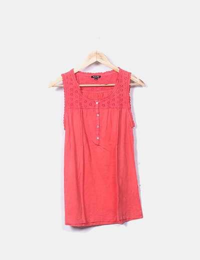 Blusa rosa combinada encaje