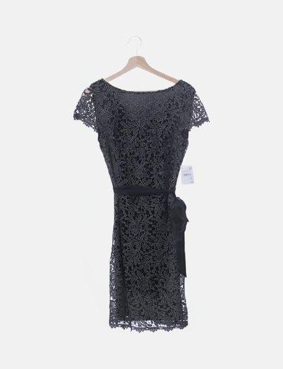 Vestido de encaje negro glitter