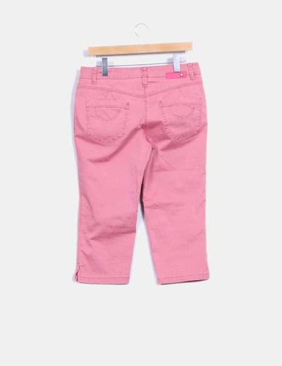 Pantalon pitillo rosa