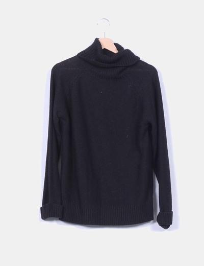 Jersey negro cuello vuelto Easy Wear