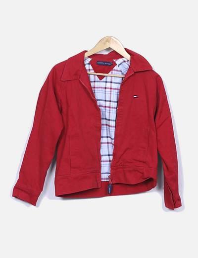 Veste rouge en jeans Tommy Hilfiger
