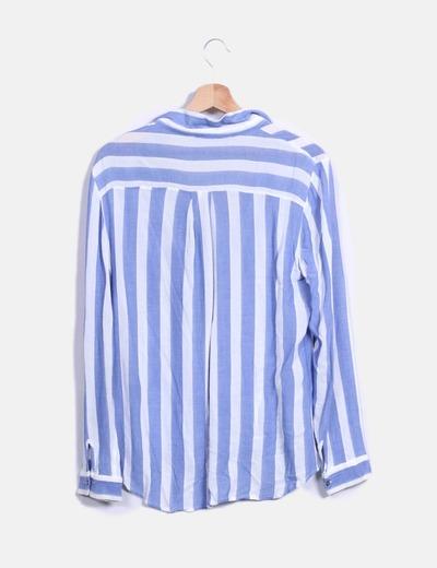bd09de52468ca Zara Camisa rayas azul y blanca (descuento 32%) - Micolet