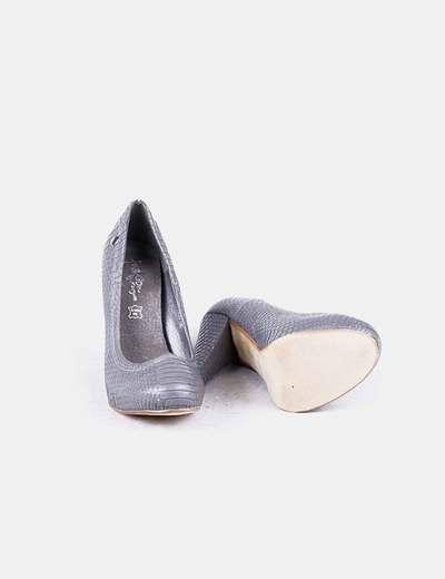 Marypaz Zapatos tacón ancho gris texturizado (descuento 80%) - Micolet ce7300f5e325