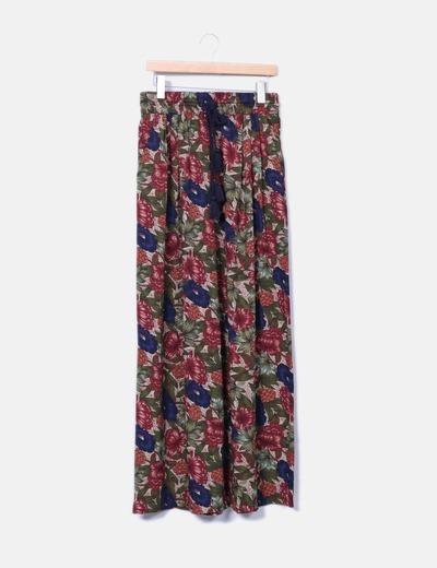 Pantalons palazzo floraux Zara
