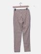 Pantalón de cuadros marrón y blanco Zara