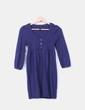 Vestido troquelado azul marino Topshop