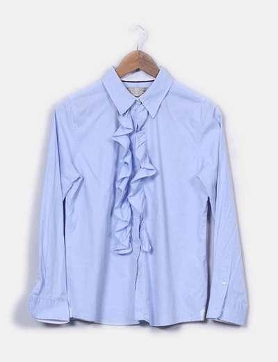 Camisa azul con chorrera Pedro del Hierro