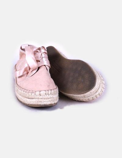 la mejor moda precio de calle alta moda Zapatillas esparto rosa palo