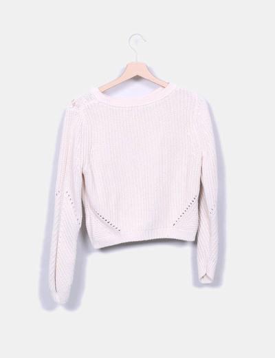 Jersey de punto rosa pastel
