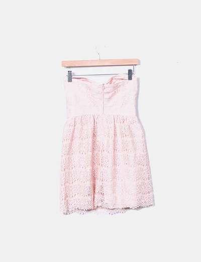 Vestido Rosa Palo Encaje