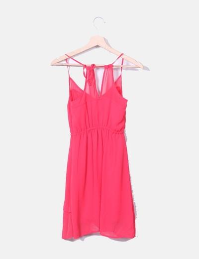 más nuevo mejor calificado Boutique en ligne comprar online Vestido rosa de gasa con botones