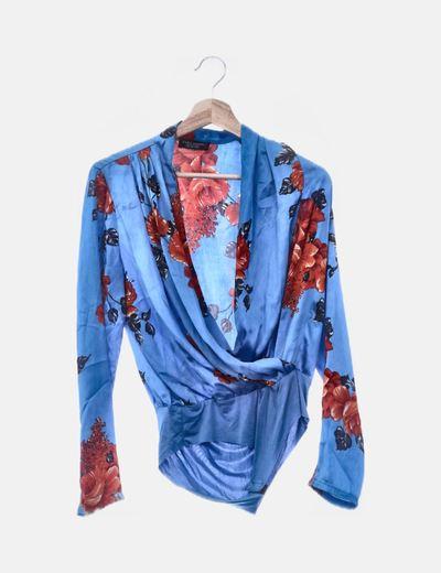 Body azul floral