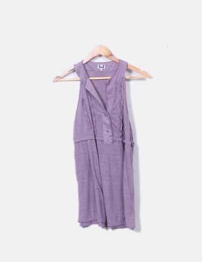 Blusa tricot morado