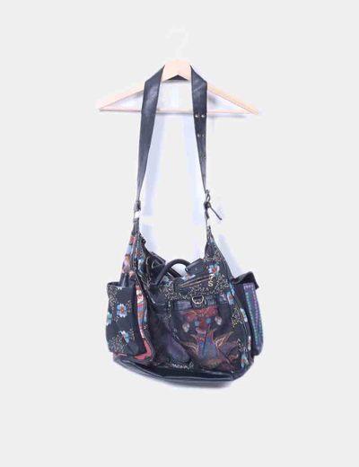 Maxi bolso con estampado floral  Desigual