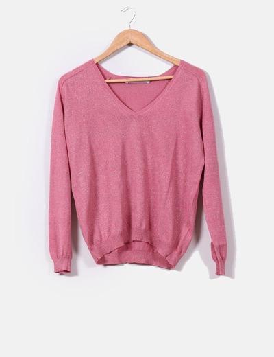 Jersey rosa con brillos