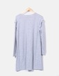 Vestido gris jaspeado Kiabi
