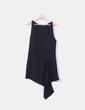 Vestido midi negro corte asimétrico Zara