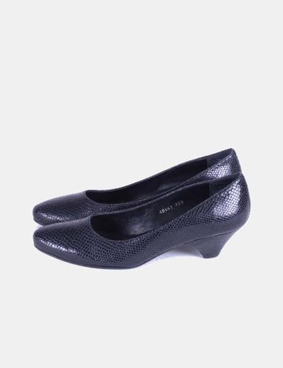 Zapato negro texturizado  Farrutx