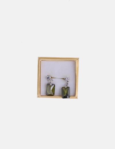 Pendientes joya verde