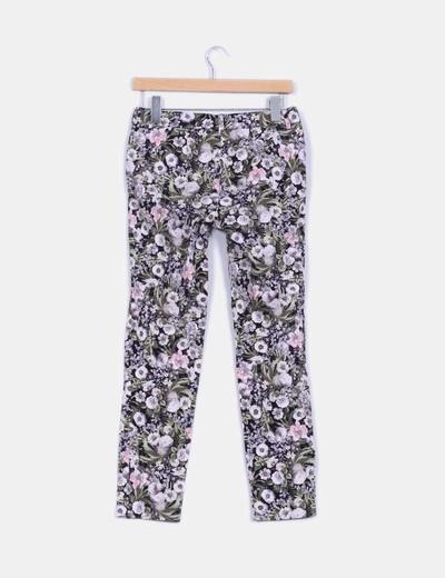 Pantalon chino estampado floral