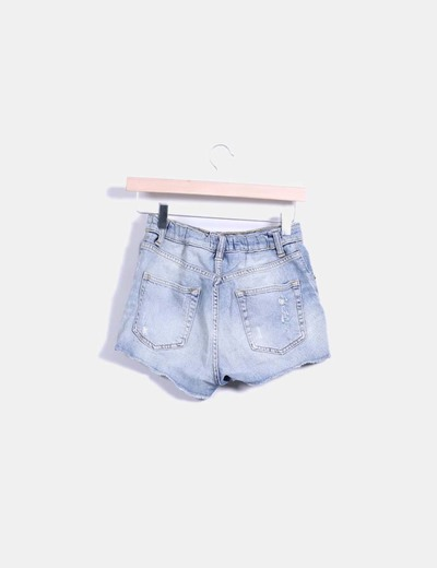 Shorts denim bordado