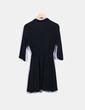 Vestido negro manga larga Bershka
