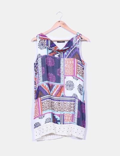 Vestido estampado multicolor NoName