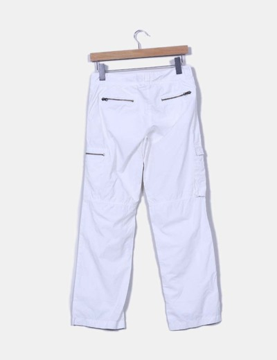 Pantalon blanco pata recta