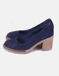 Chaussures bleu marine en daim Stradivarius