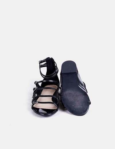 De Hebillasdescuento Tiras Sandalias 74Micolet Zara Negras Con b6gy7Yfv