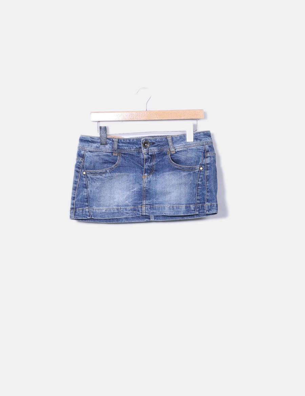 4531569993 baratas azul online Bershka Faldas Minifalda denim qvBFwFR7 ...