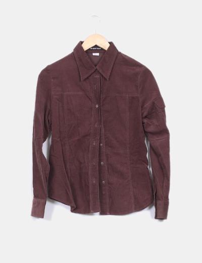Camisa marrón de pana Naf Naf