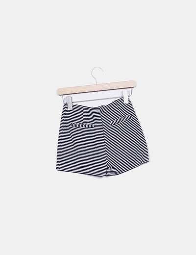 Shorts rayas navy