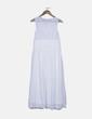 Vestido gasa blanco bordado Zara